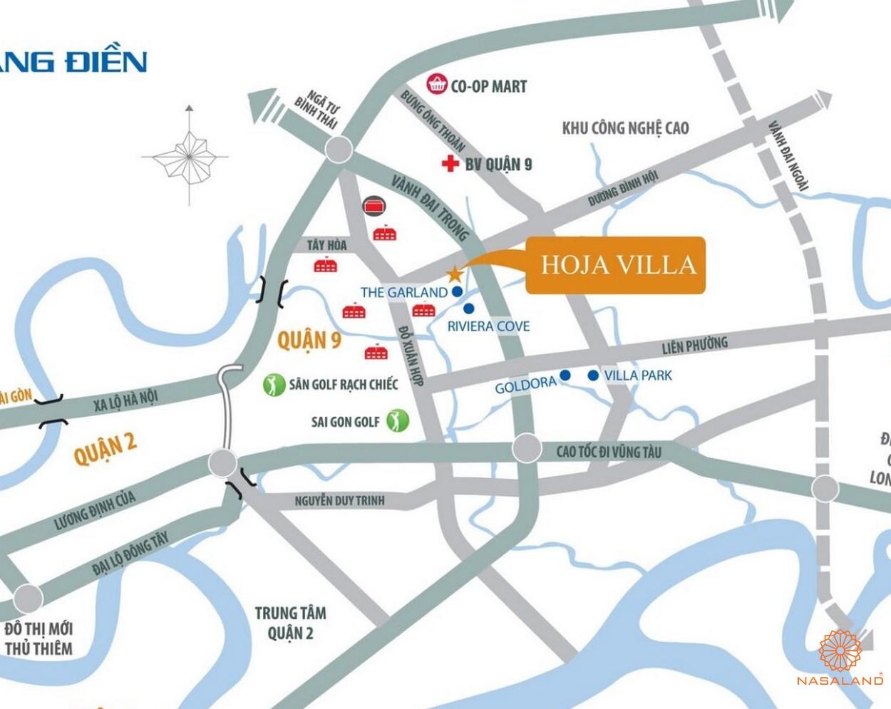 Vị trí dự án biệt thự nhà phố Hoja Villa Quận 9