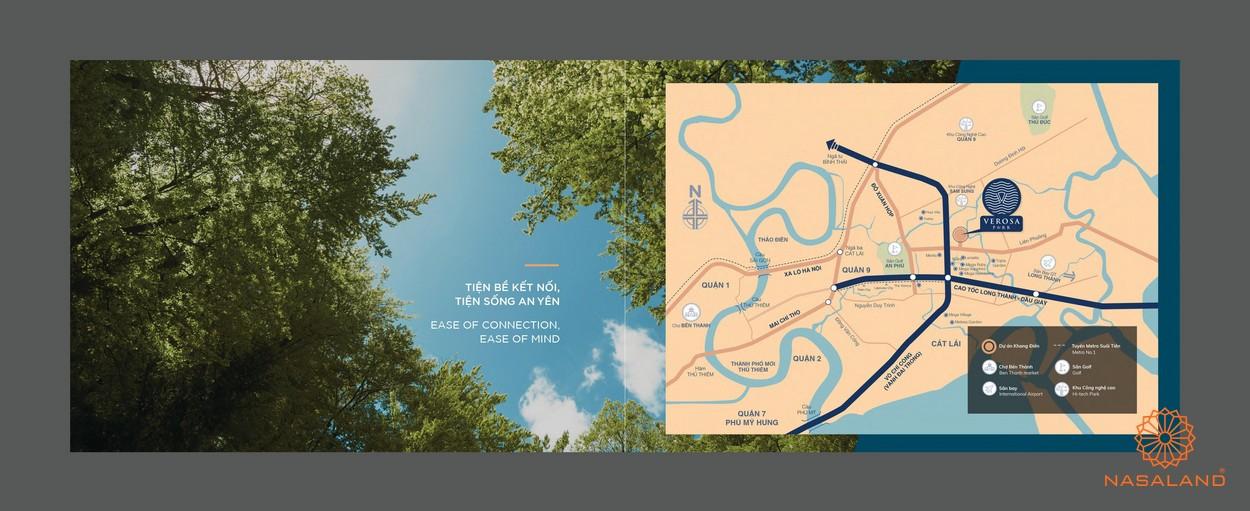Vị trí của dự án nhà phố Verosa Park Khang Điền Quận 9