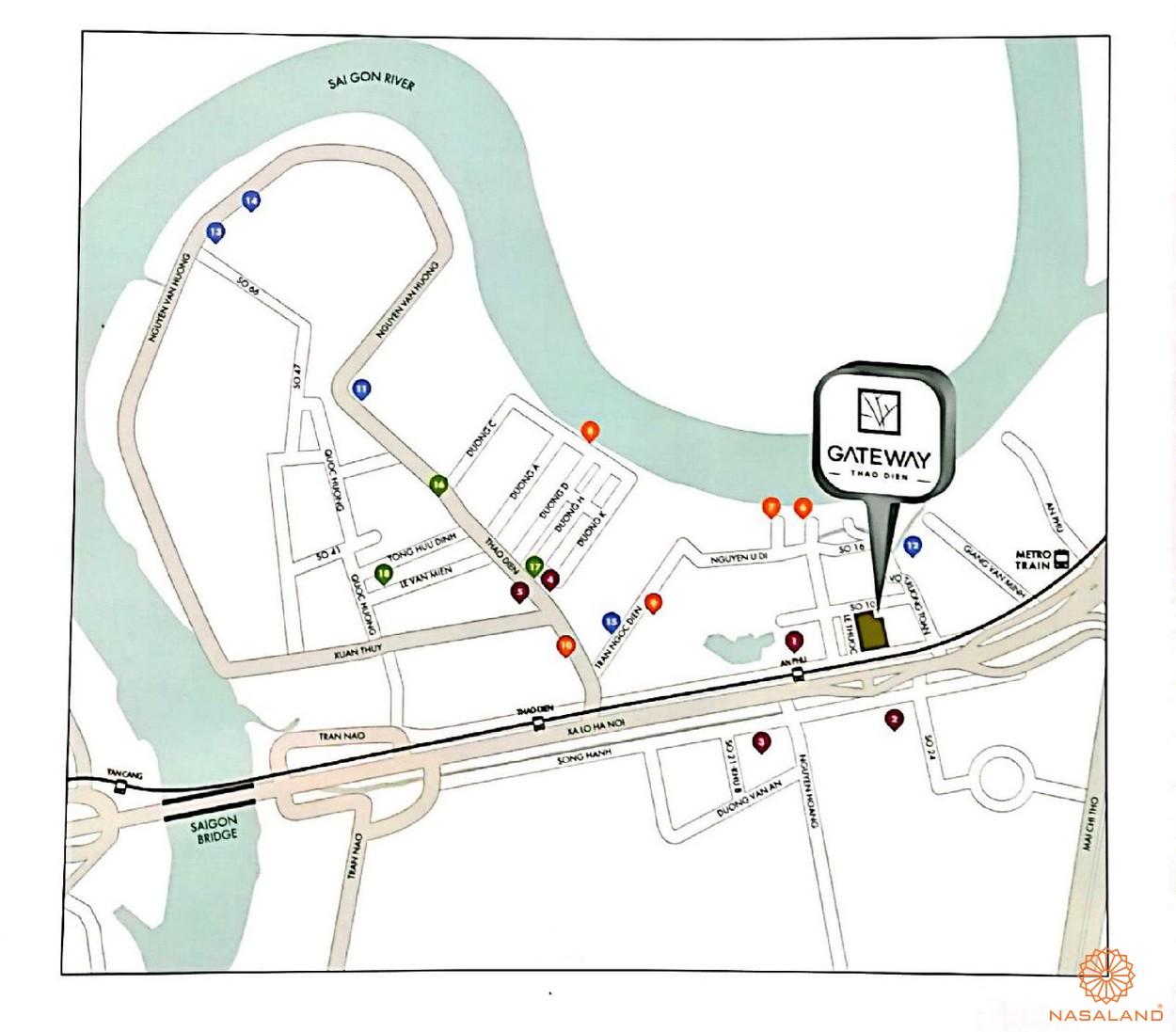 Vị trí dự án căn hộ Gateway Thảo Điền Quận 2 Chủ đầu tư Sơn Kim Land
