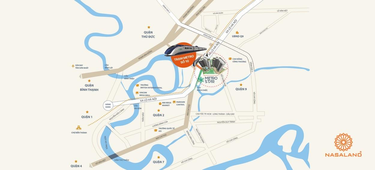 Vị trí địa chỉ dự án Căn hộ MetroStar Quận 9 Đường Trường Thạnh chủ đầu tư CT Group