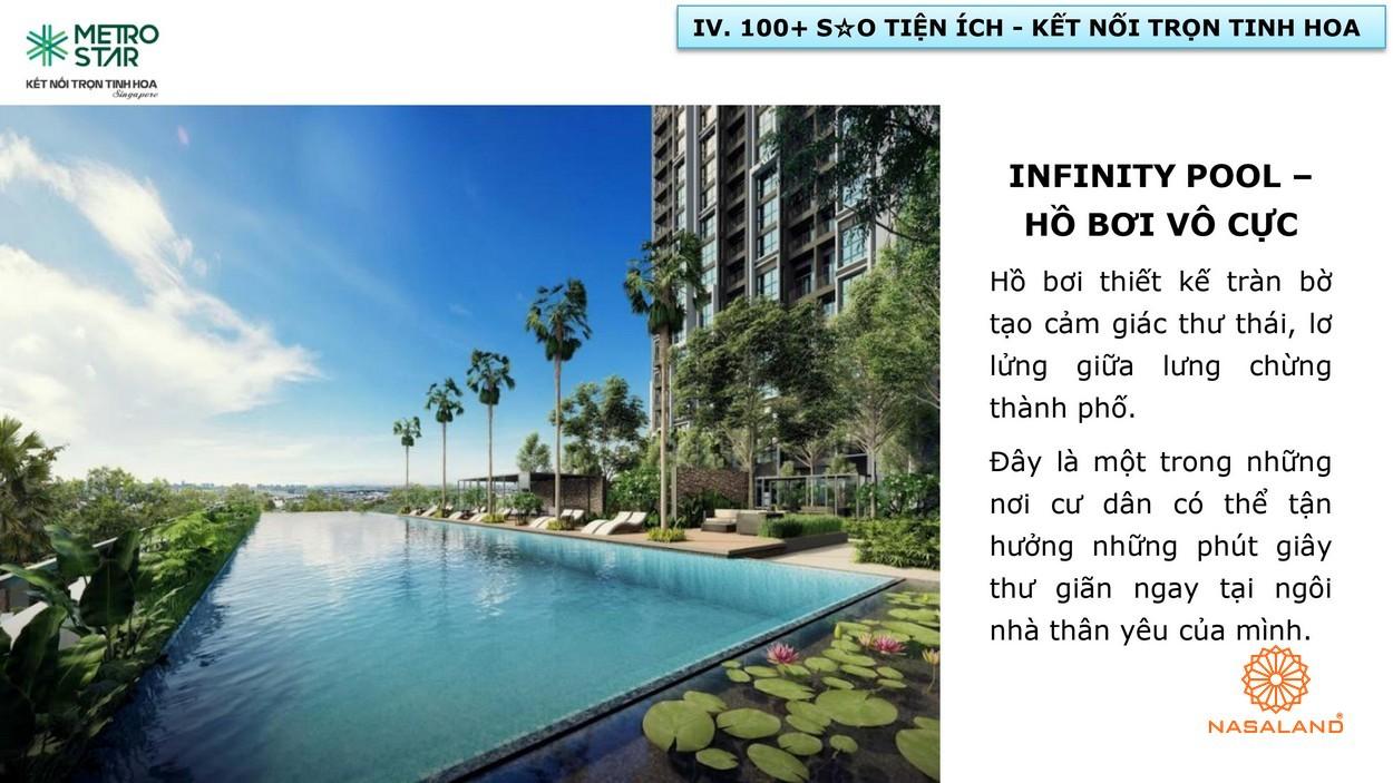 Infiniti Pool - Hồ bơi vô cực tại cụm tiện ích