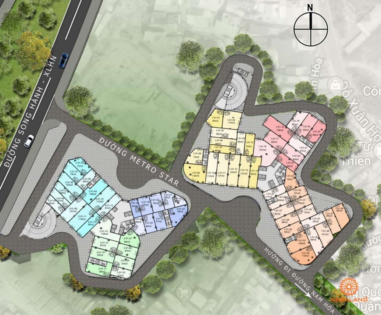 Mặt bằng dự án Căn hộ MetroStar Quận 9 đường Trường Thạnh chủ đầu tư CT Group