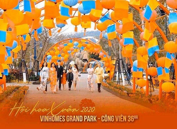 Lễ hội hoa xuân tại Vinhomes Grand Park