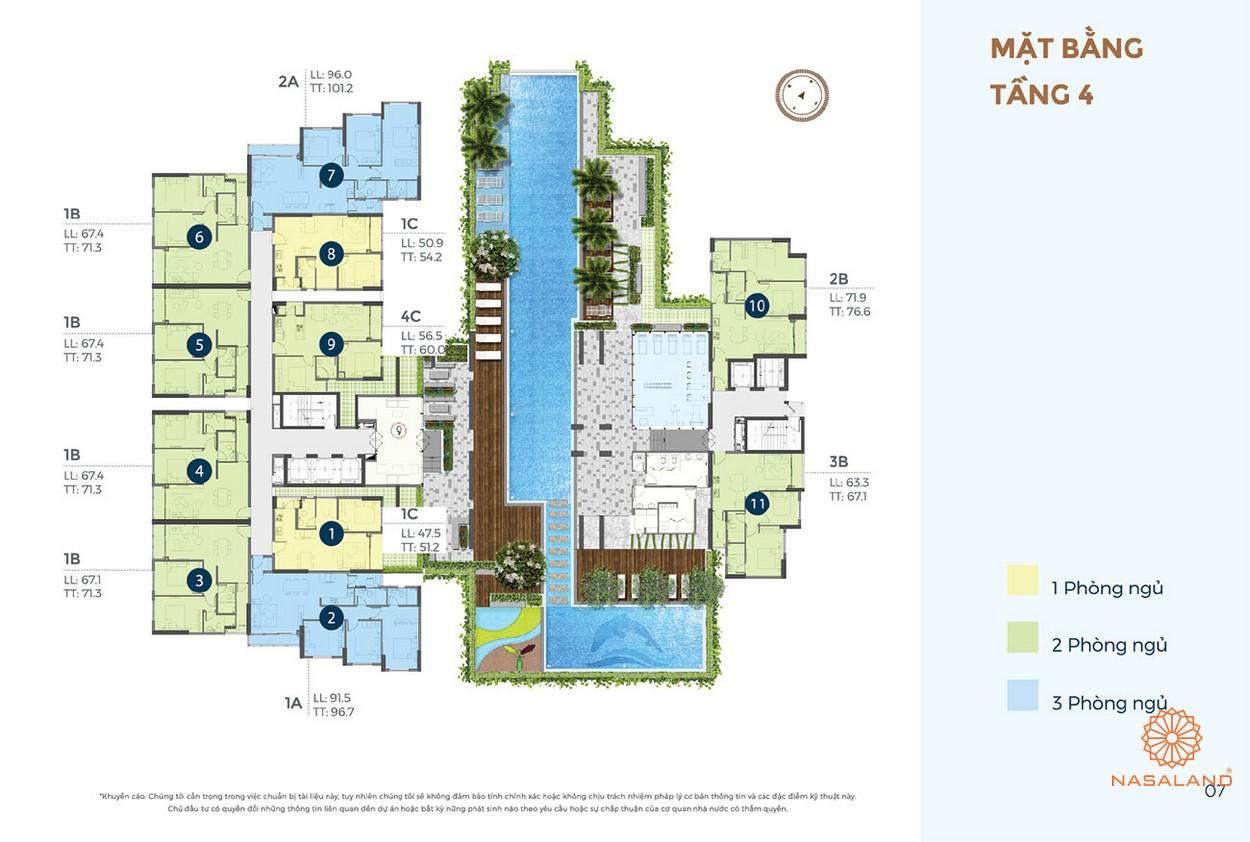 Mặt bằng dự án căn hộ D'Lussio Precia Quận 2