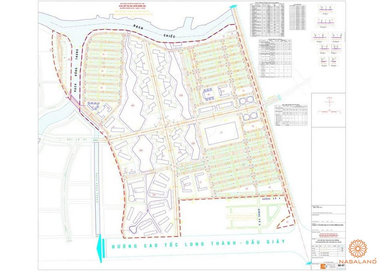 Mặt bằng dự án chung cư Him Lam City Quận 2