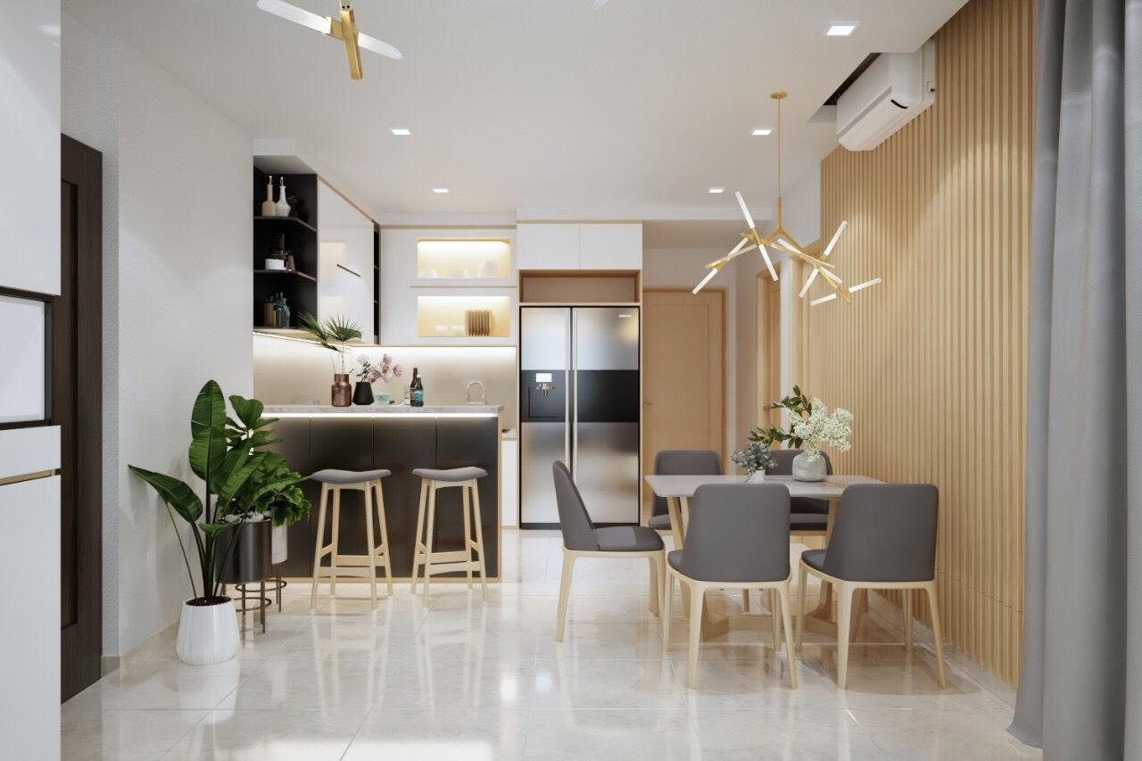 Nội thất phòng ăn và bếp tại dự án căn hộ Jamila
