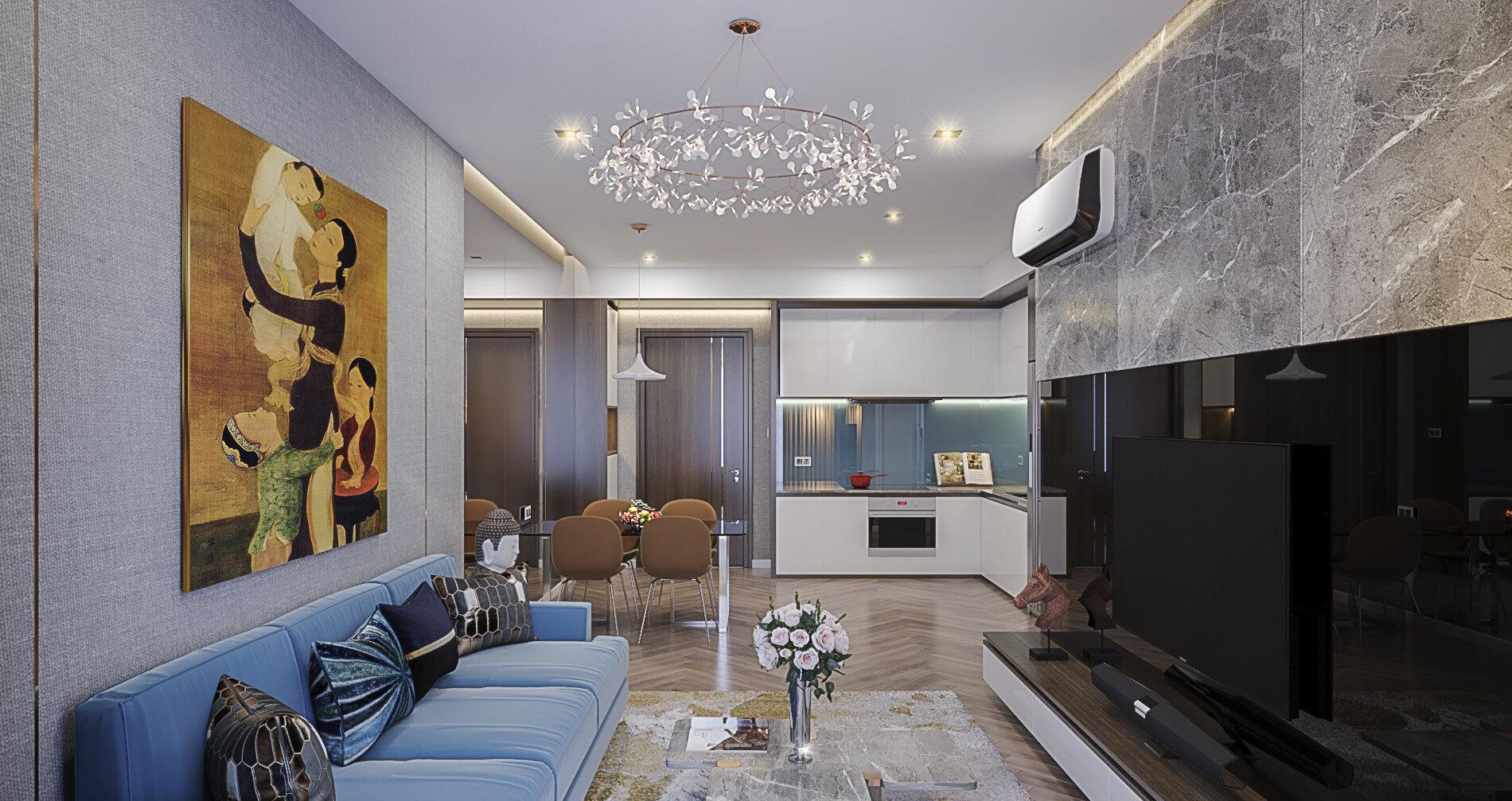 Nội thất phòng khách dự án Jamila tiện nghi và hiện đại