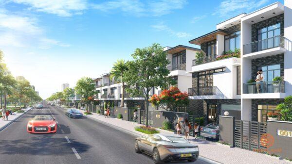 Phối cảnh dự án nhà phố Đông Tăng Long An Lộc