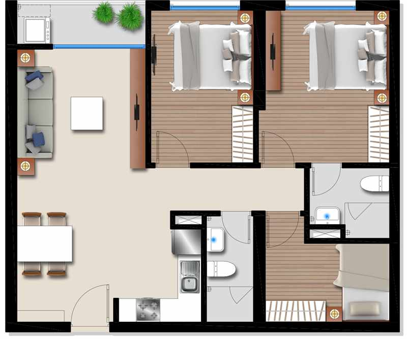 Thiết kế của chung cư TDH Phúc Thịnh Đức