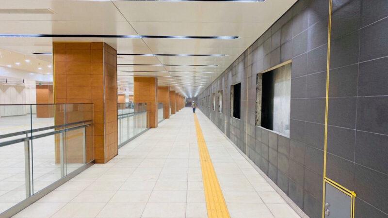 Nhà ga gần như hoàn thiện 90%