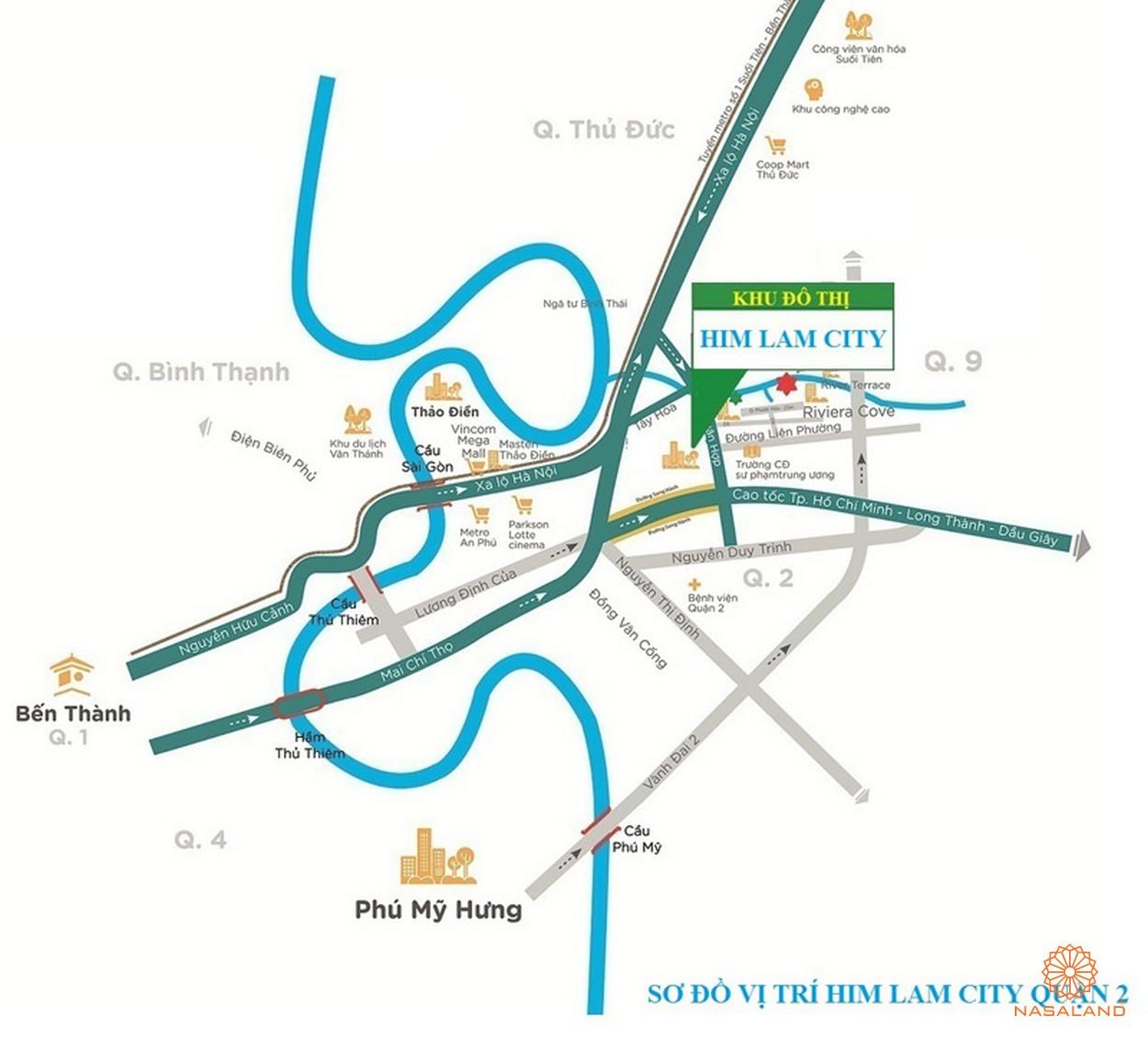 Vị trí địa chỉ Him Lam City