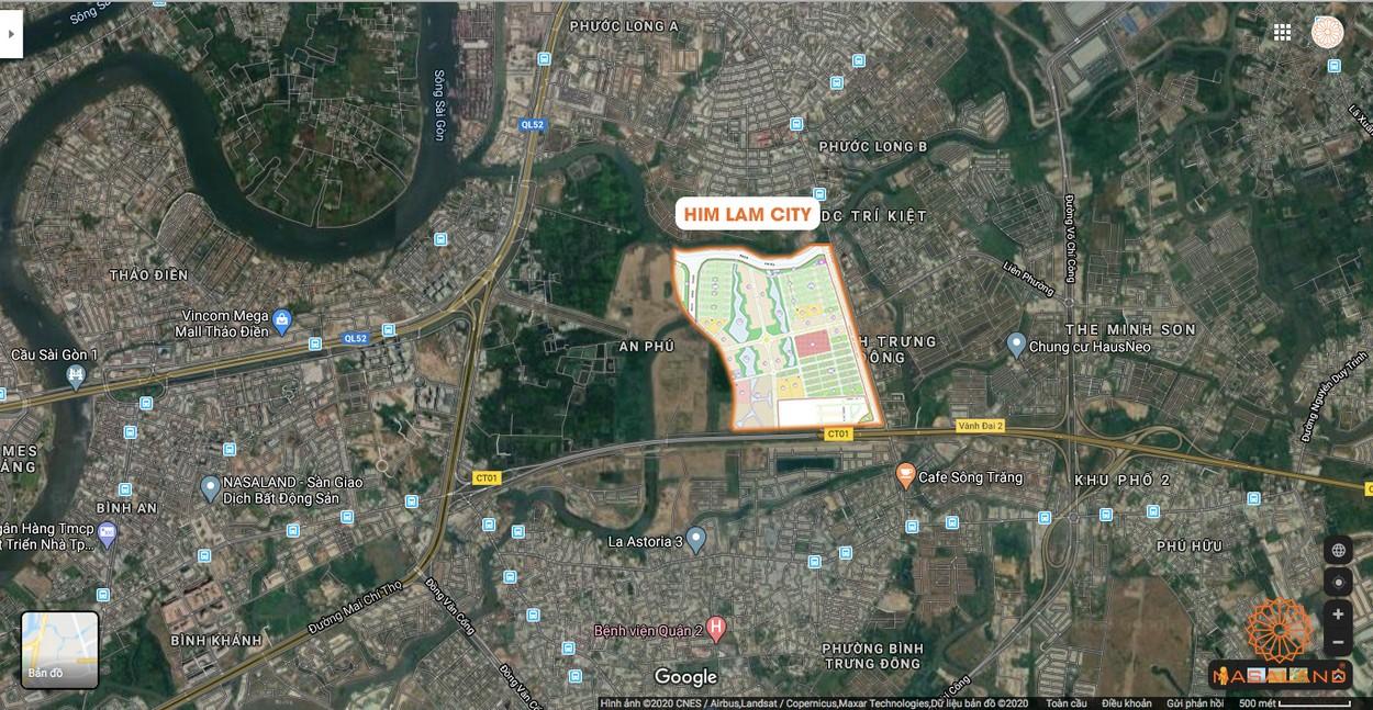 Vị trí địa chỉ Him Lam City trên Google Maps