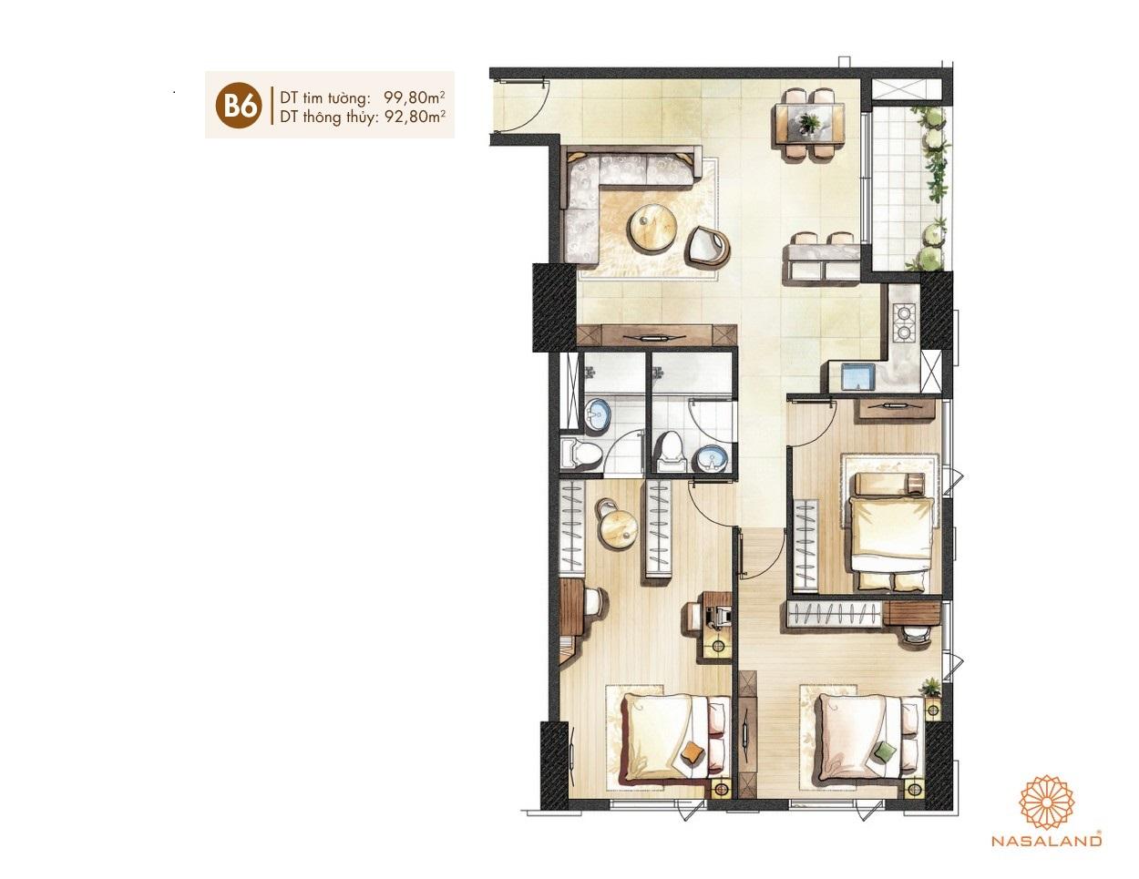 Thiết kế căn hộ dự án Paris Hoàng Kim