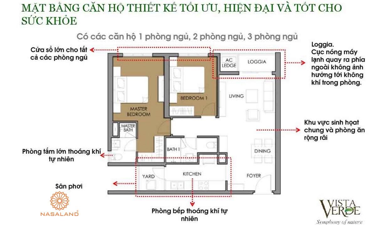 Mặt bằng dự án căn hộ chung cư Vista Verde Quận 2