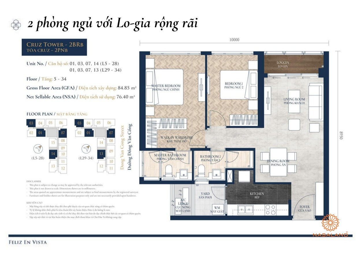 Thiết kế dự án căn hộ 2PN Feliz en Vista Quận 2 đường Phan Văn Đáng chủ đầu tư CapitaLand