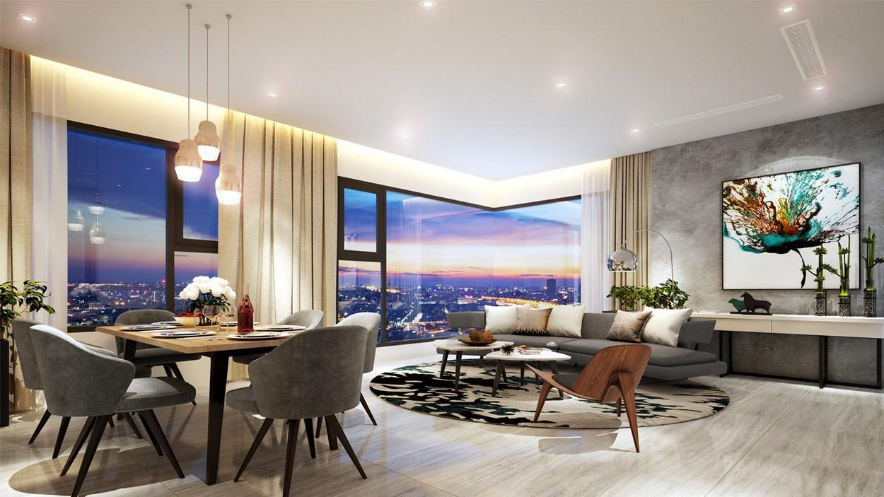 Nội thất phòng khách thuộc dự án của chủ đầu tư Hoa Lân