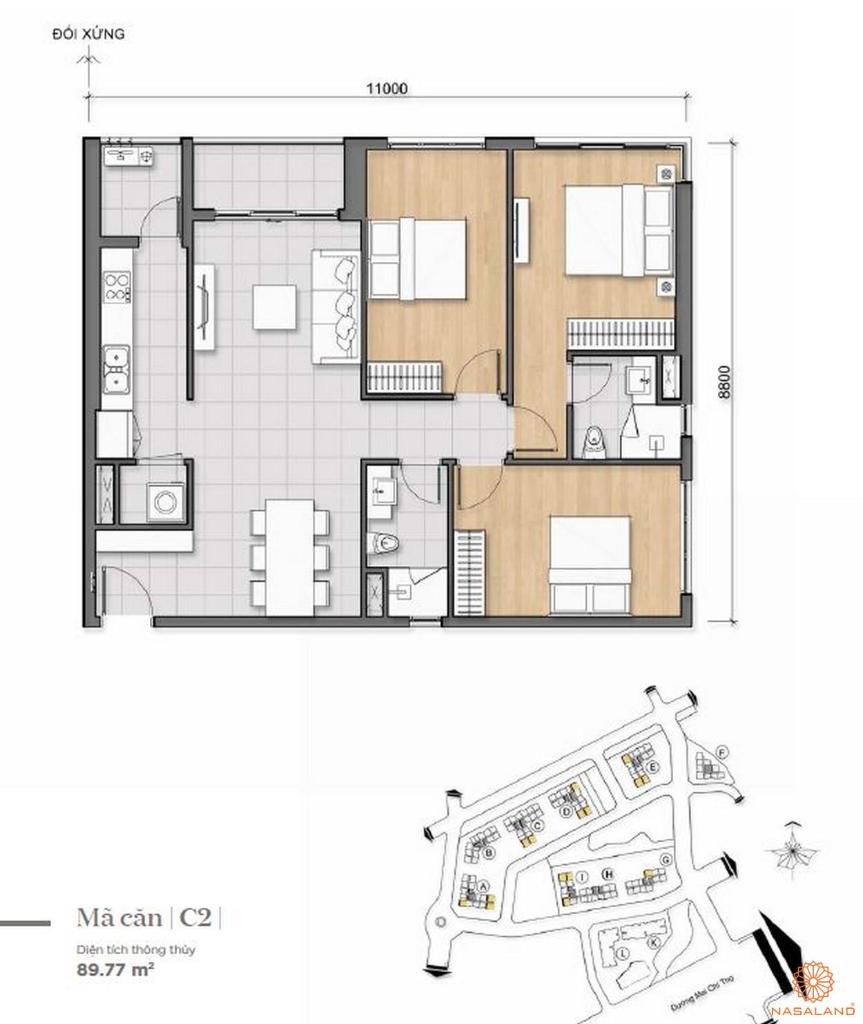 Thiết kế điển hình căn hộ dự án