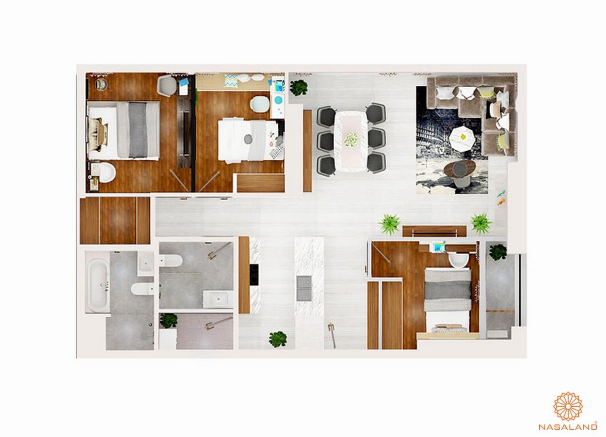 thiết kế chi tiết căn hộ 3 PN dự án chung cư Kingdom 101 quận 10