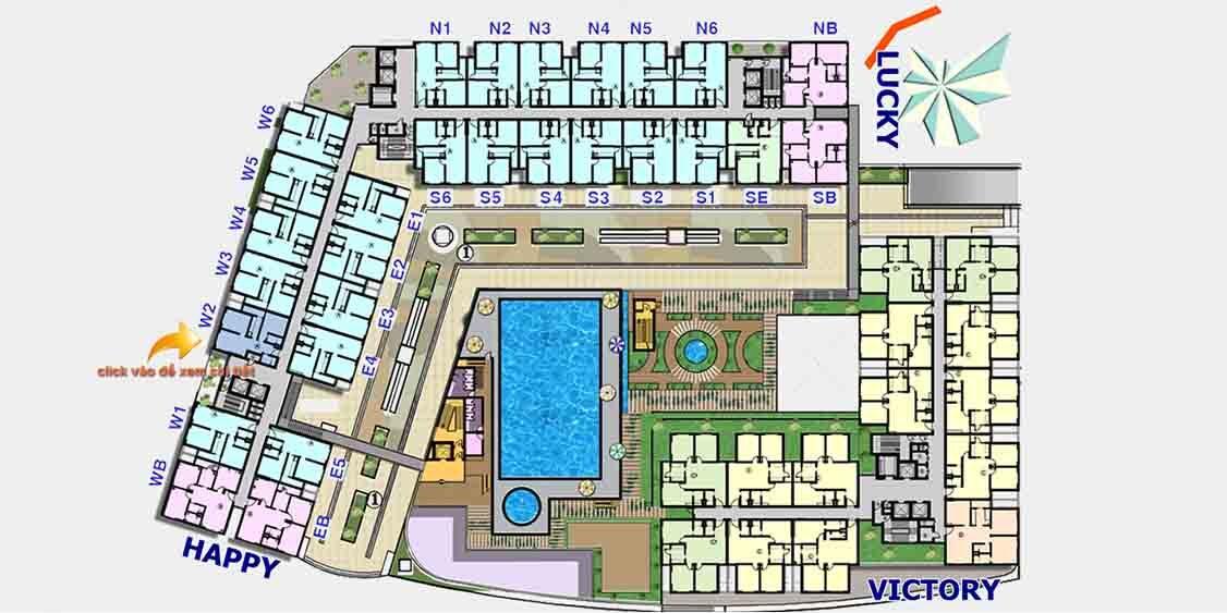 Mặt bằng căn hộ chung cư The CBD Premium Quận 2