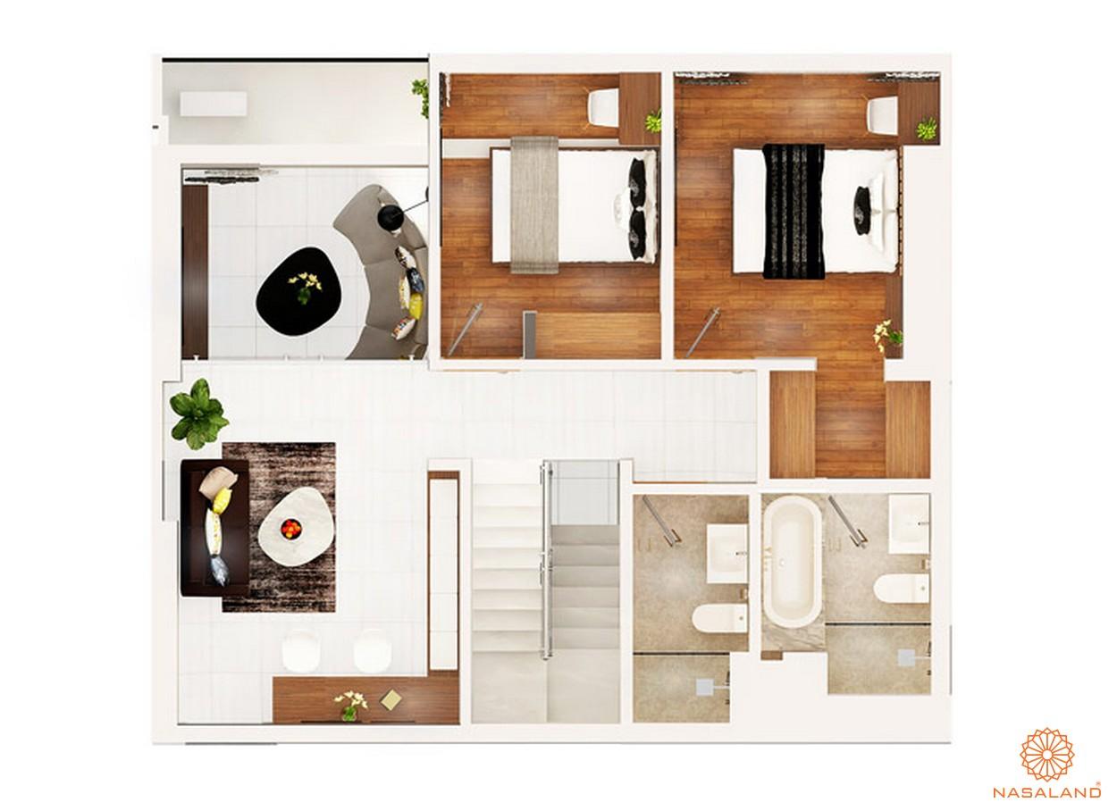 thiết kế chi tiết căn hộ 2 PN dự án chung cư Kingdom 101 quận 10