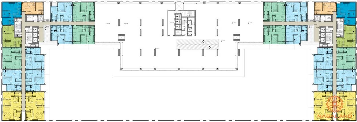 Mặt bằng chi tiết tằng 3 dự án căn hộ chung cư Kingdom 101 quận 10
