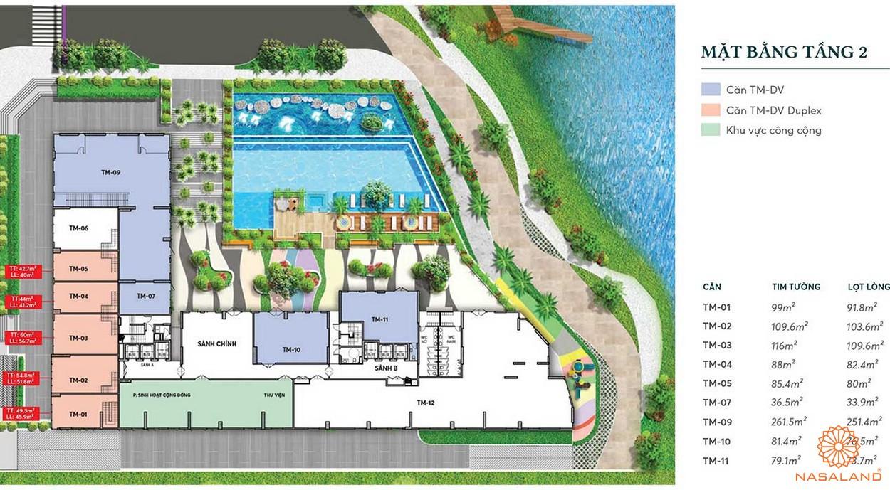 Mặt bằng dự án căn hộ chung cư Thủ Thiêm Dragon Quận 2