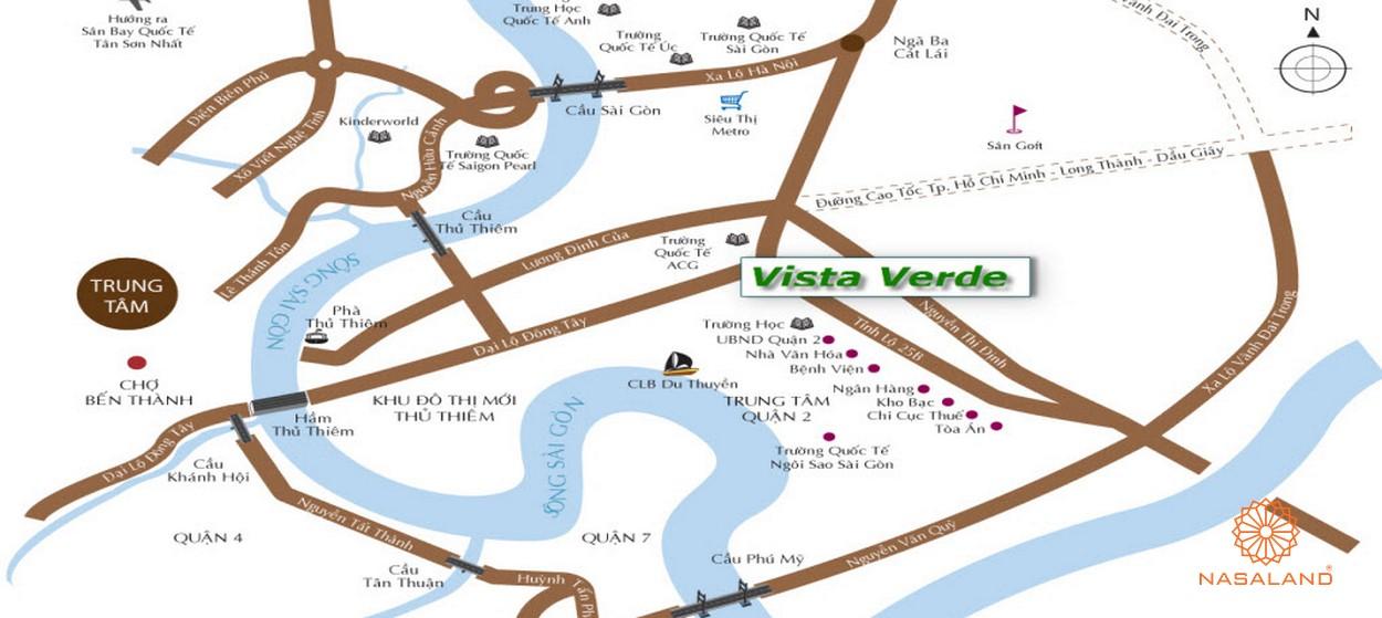 Vị trí địa chỉ dự án căn hộ chung cư Vista Verde Quận 2