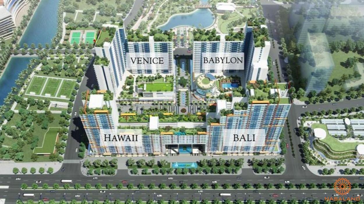 Mặt bằng tổng thể 4 tòa nhà căn hộ New City