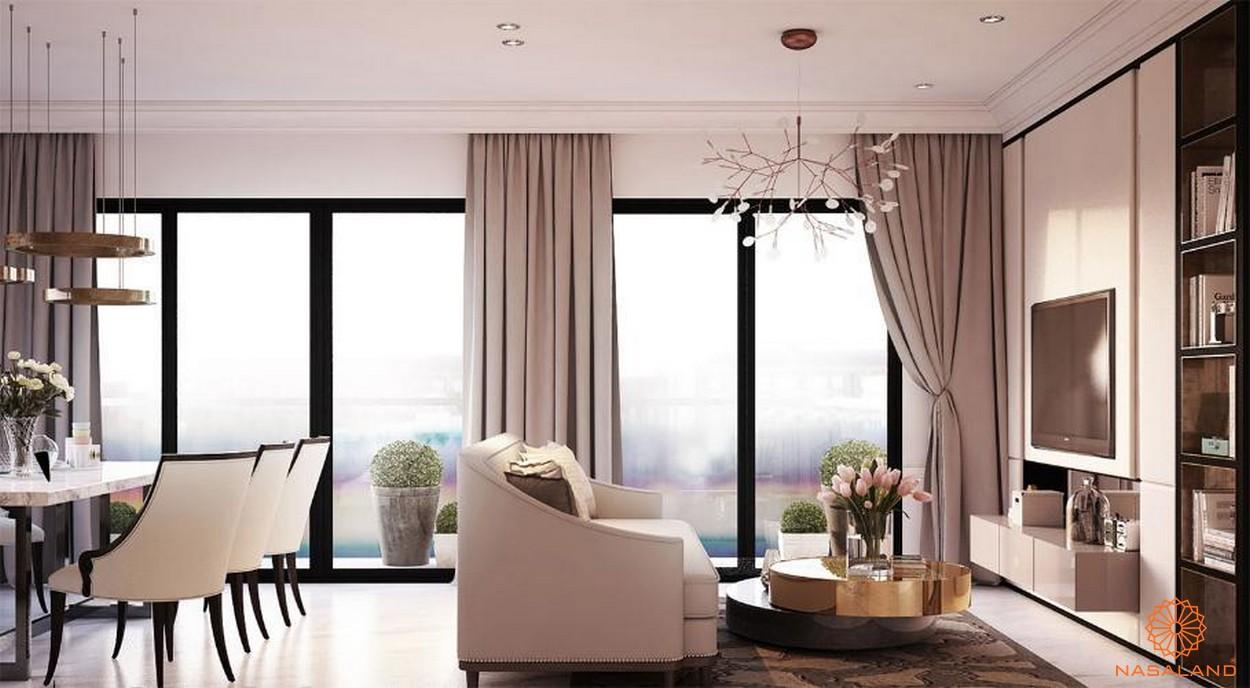 Thiết kế phòng khách bên trong căn hộ New City quận 2