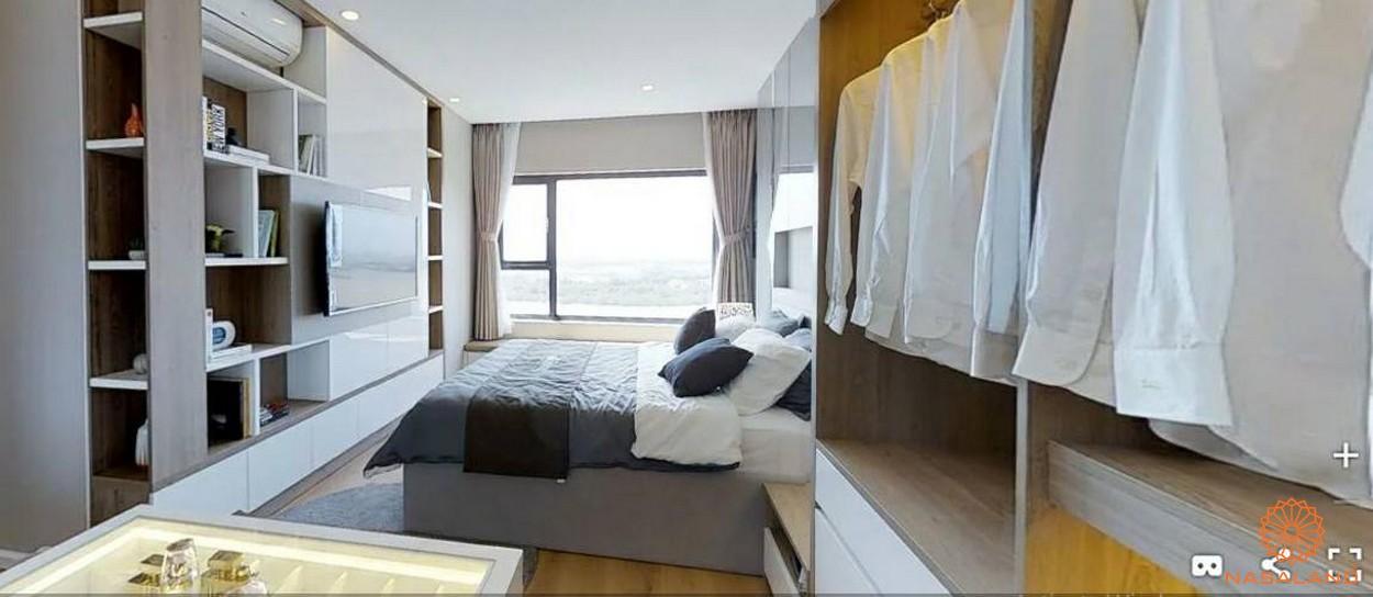 Không gian phòng ngủ trong nhà mẫu bắt nắng và tiện nghi