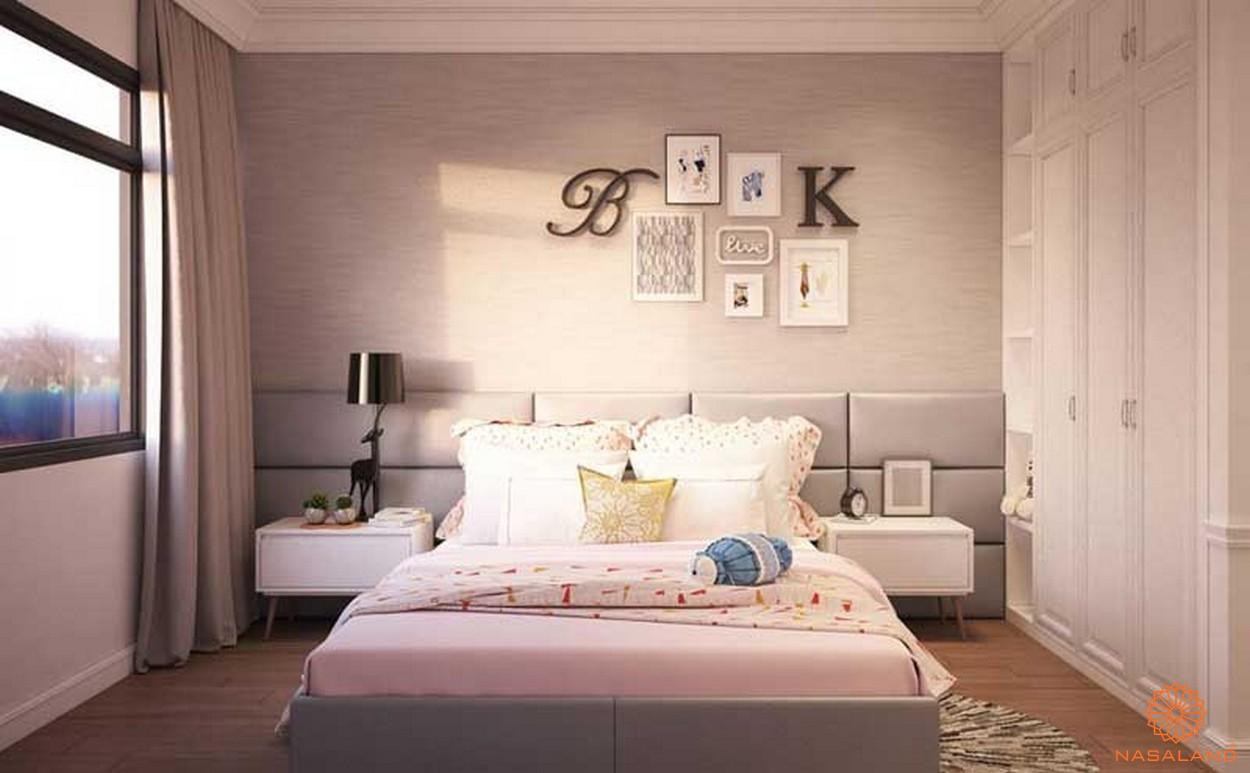 Nội thất phòng ngủ trang nhã tại căn hộ New City quận 2