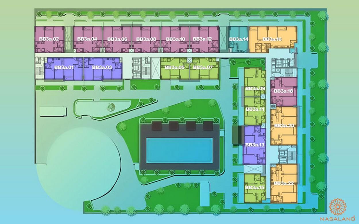Mặt bằng dự án căn hộ New City Quận 2 đường Mai Chí Thọ