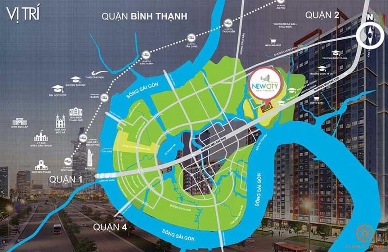 Vị trí địa chỉ dự án căn hộ New City Quận 2 đường Mai Chí Thọ