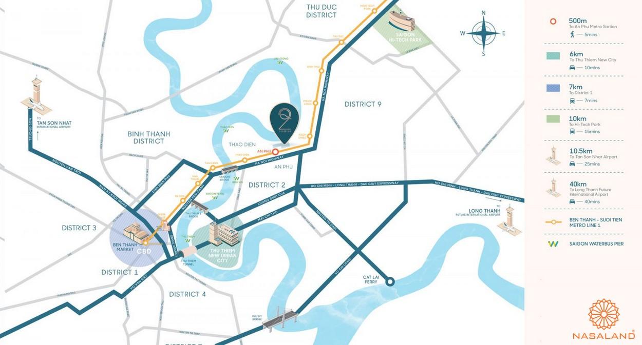 Vị trí địa chỉ dự án căn hộ Q2 Thảo Điền Quận 2