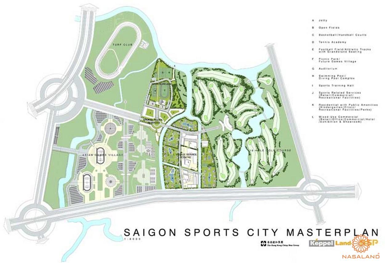 Mặt bằng dự án chung cư Saigon Sport City Quận 2