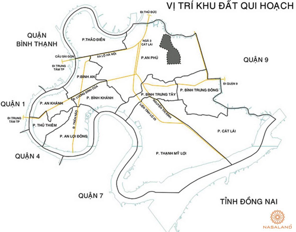 Vị trí địa chỉ dự án chung cư Saigon Sport City Quận 2