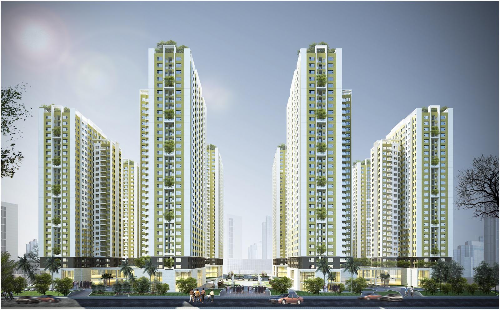 Hình ảnh phối cảnh dự án căn hộ Chung Cư Bộ Công An Quận 2 Chủ đầu tư Phú Cường Group