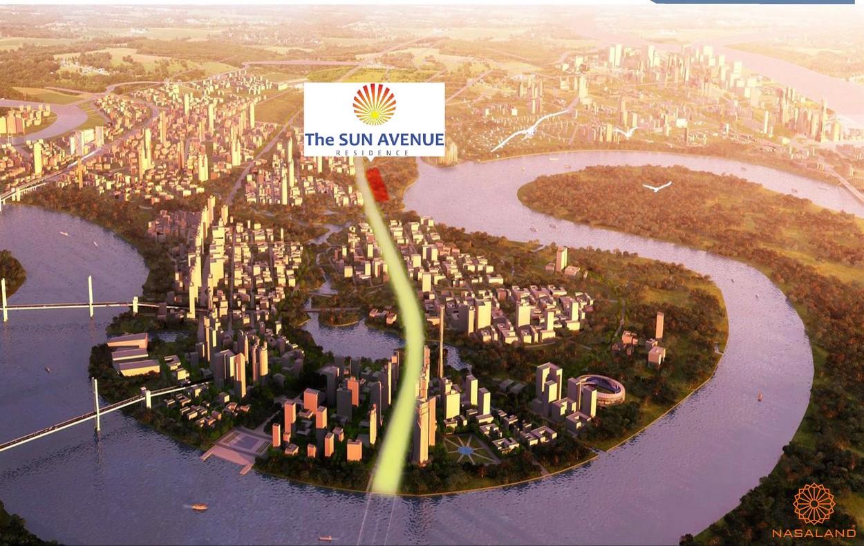Vị trí dự án căn hộ The Sun Avenue quận 2
