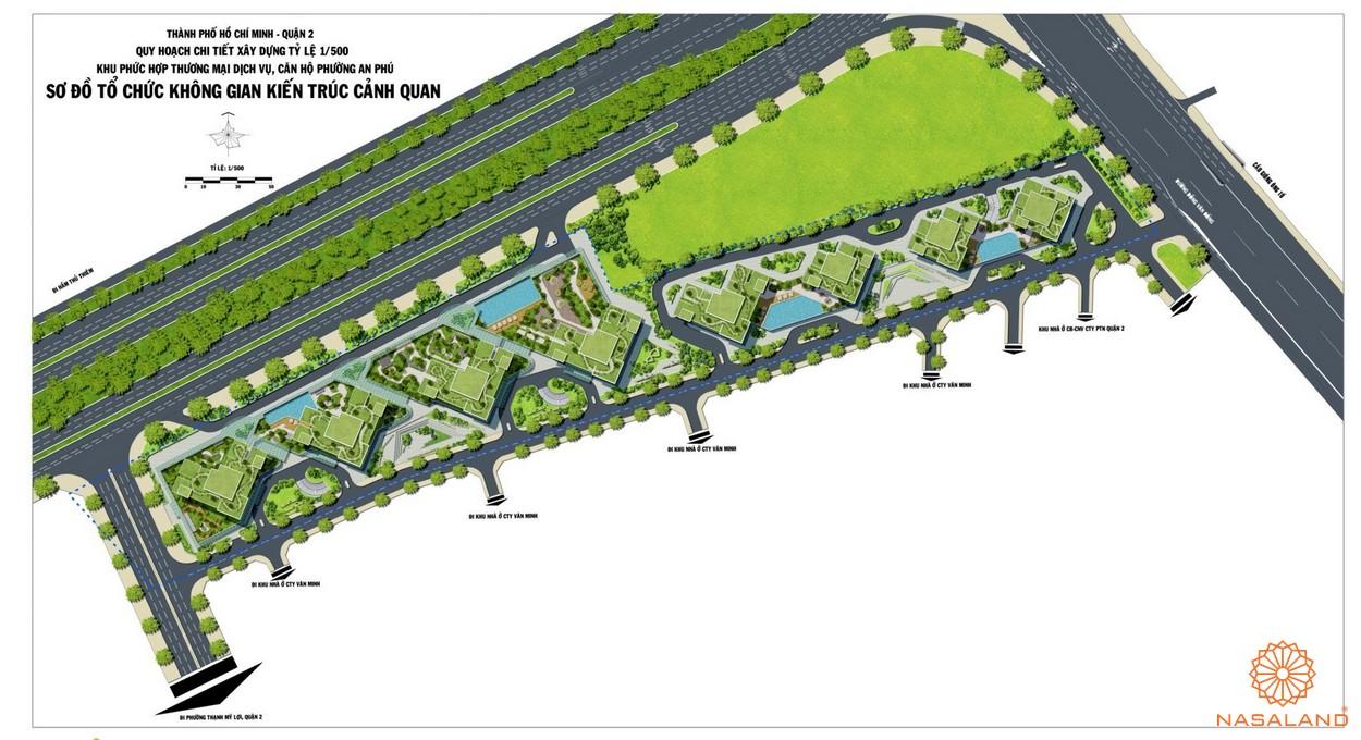 Mặt bằng chi tiết dự án căn hộ The Sun Avenue quận 2
