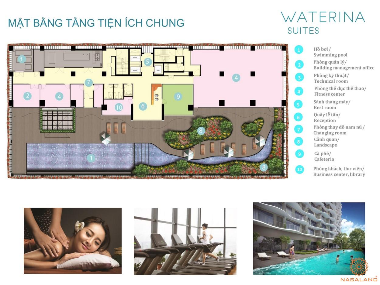 Mặt bằng tiện ích chung dự án căn hộ Waterian Suites Quận 2