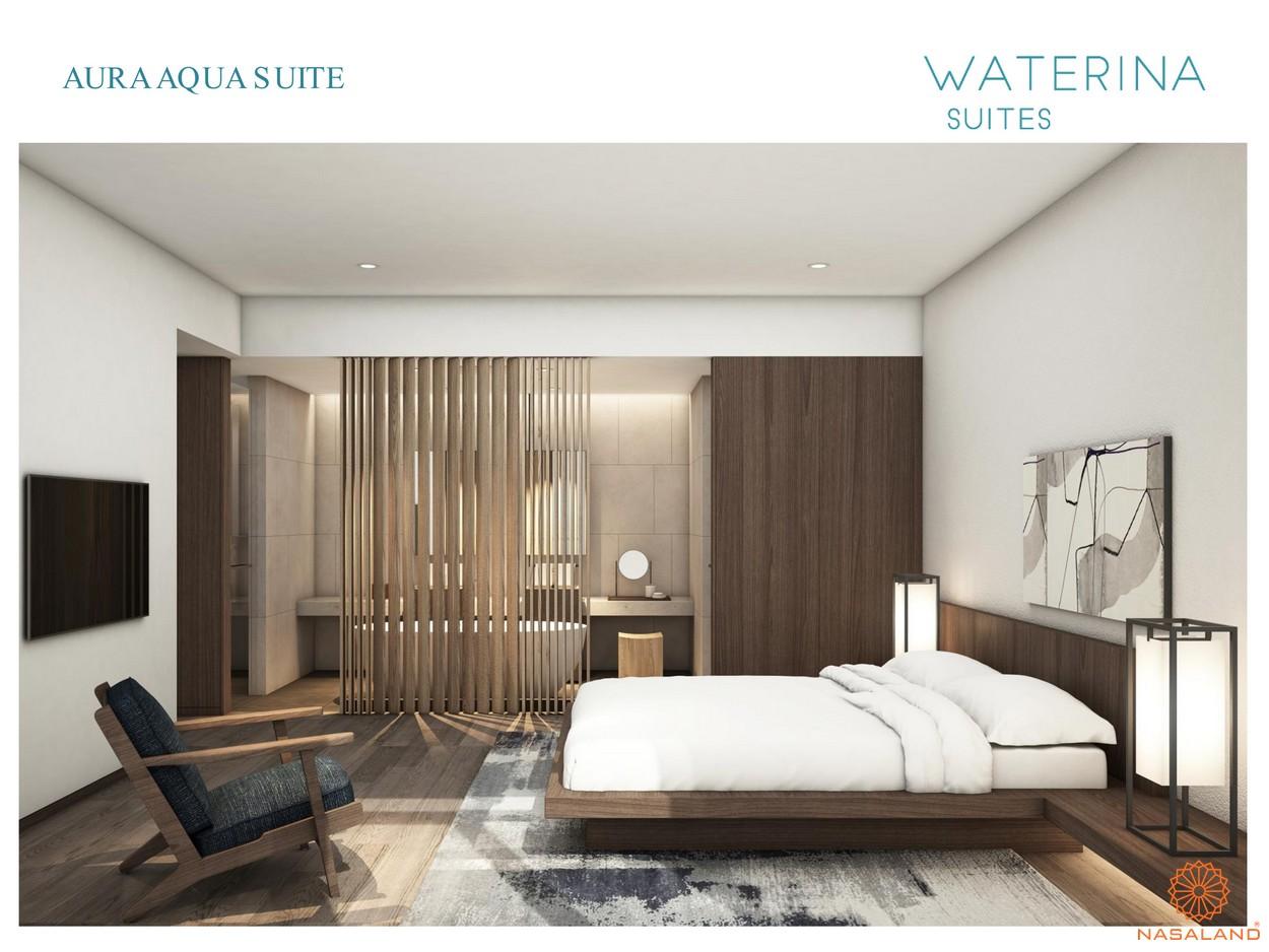 Nội thất Aura Aqua Suite thuộc căn hộ Waterina Suites quận 2