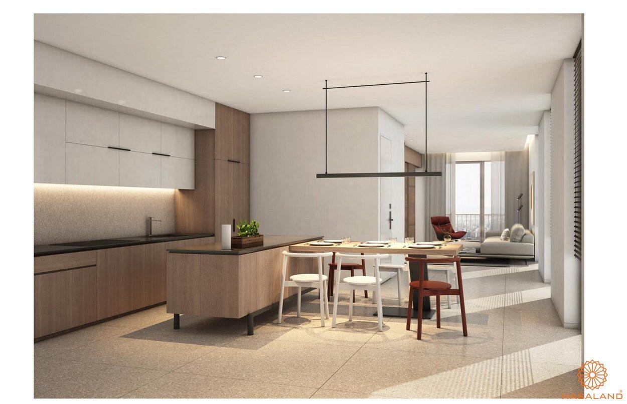 Nhà mẫu phòng bếp căn hộ Waterina Suites Quận 2