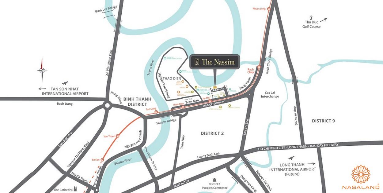 Vị trí tổng thể dự án The Nassim