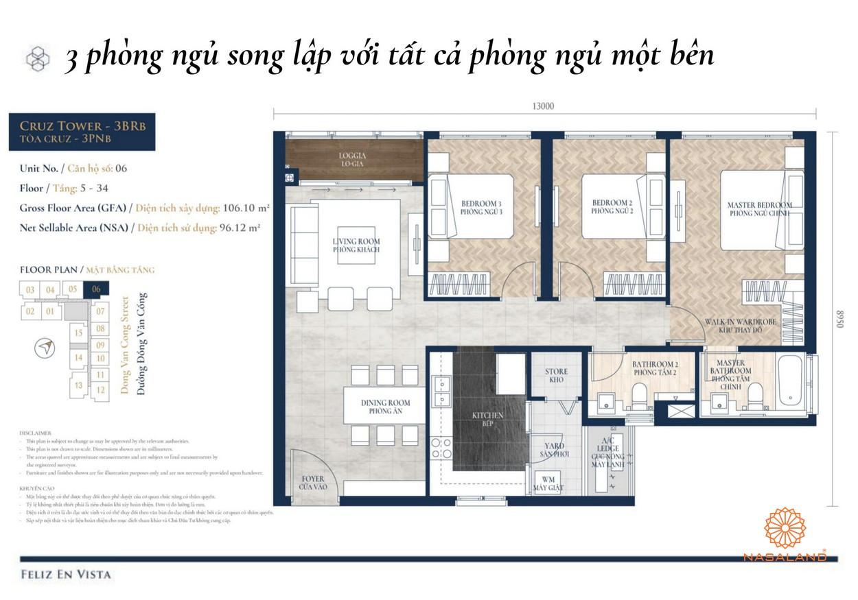 Thiết kế dự án căn hộ Feliz en Vista Quận 2 đường Phan Văn Đáng chủ đầu tư CapitaLand
