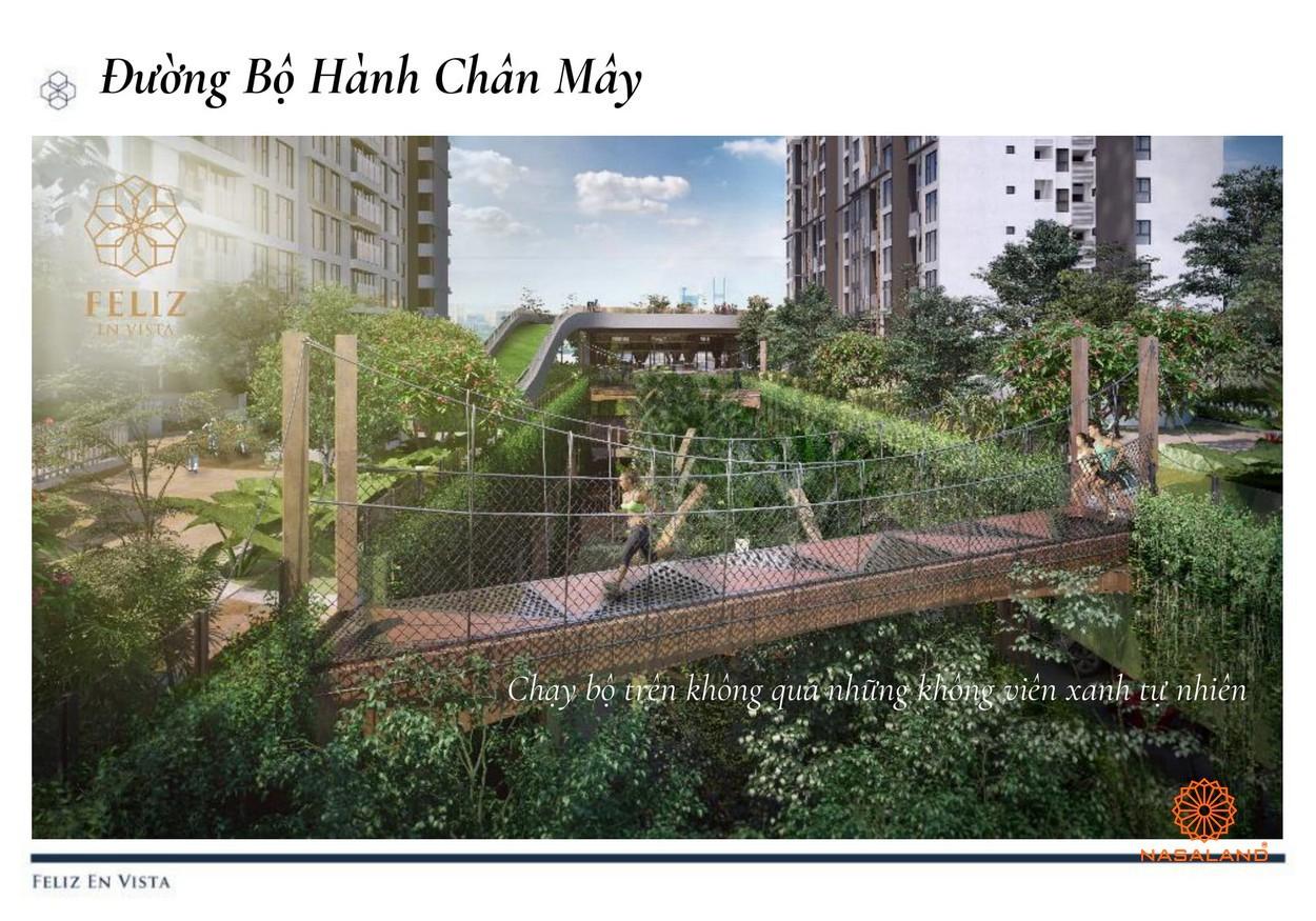 Tiện ích dự án căn hộ Feliz en Vista Quận 2 đường chạy bộ giữa thung lũng cây xanh đường Phan Văn Đáng chủ đầu tư CapitaLand