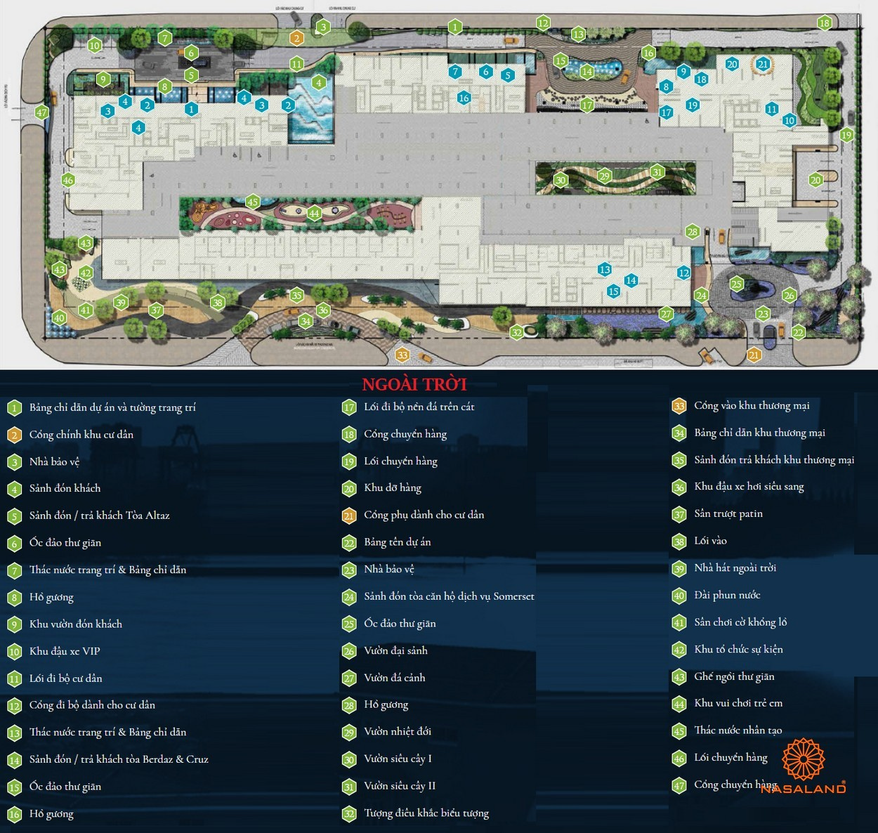Mặt bằng dự án căn hộ Feliz en Vista Quận 2 đường Phan Văn Đáng chủ đầu tư CapitaLand