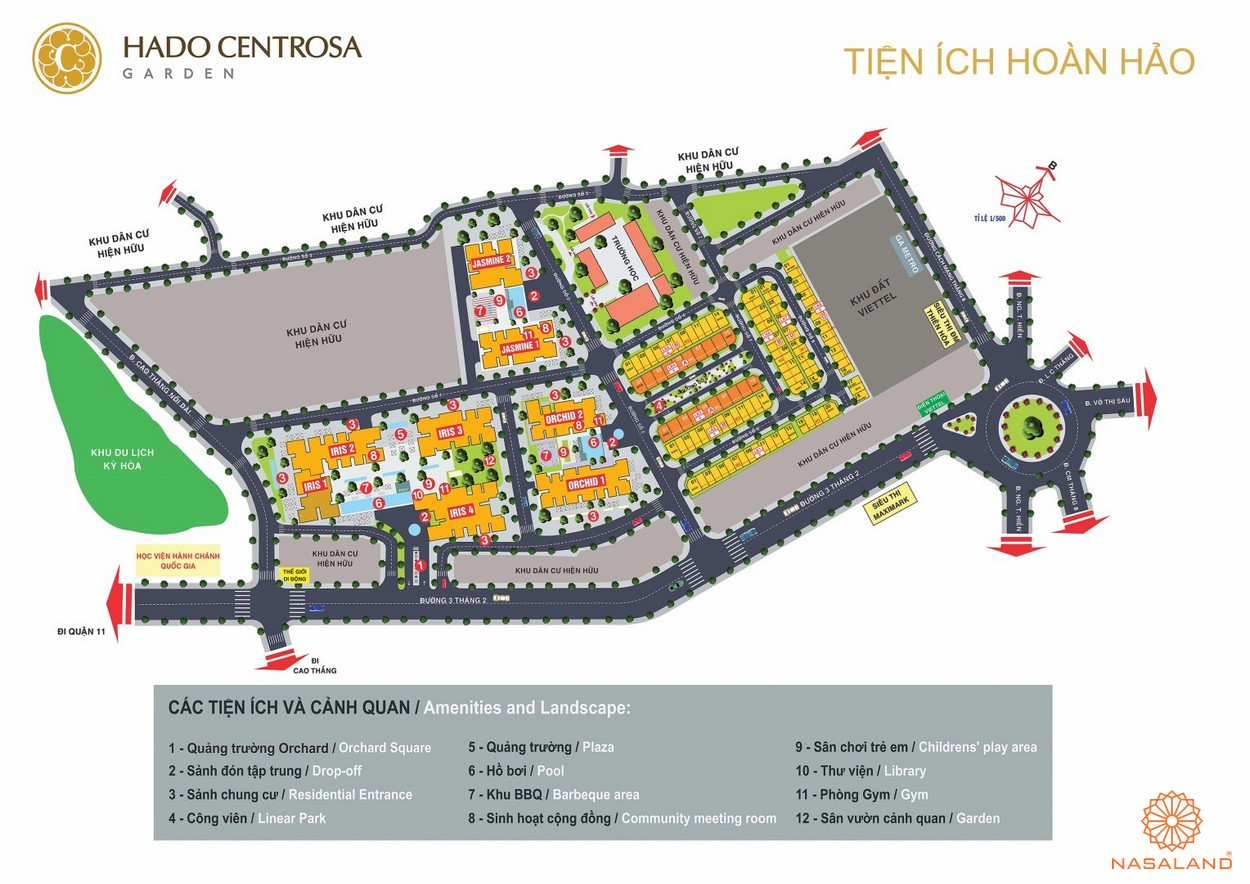 Tiện ích dự án căn hộ Hà Đô Centrosa Garden quận 10