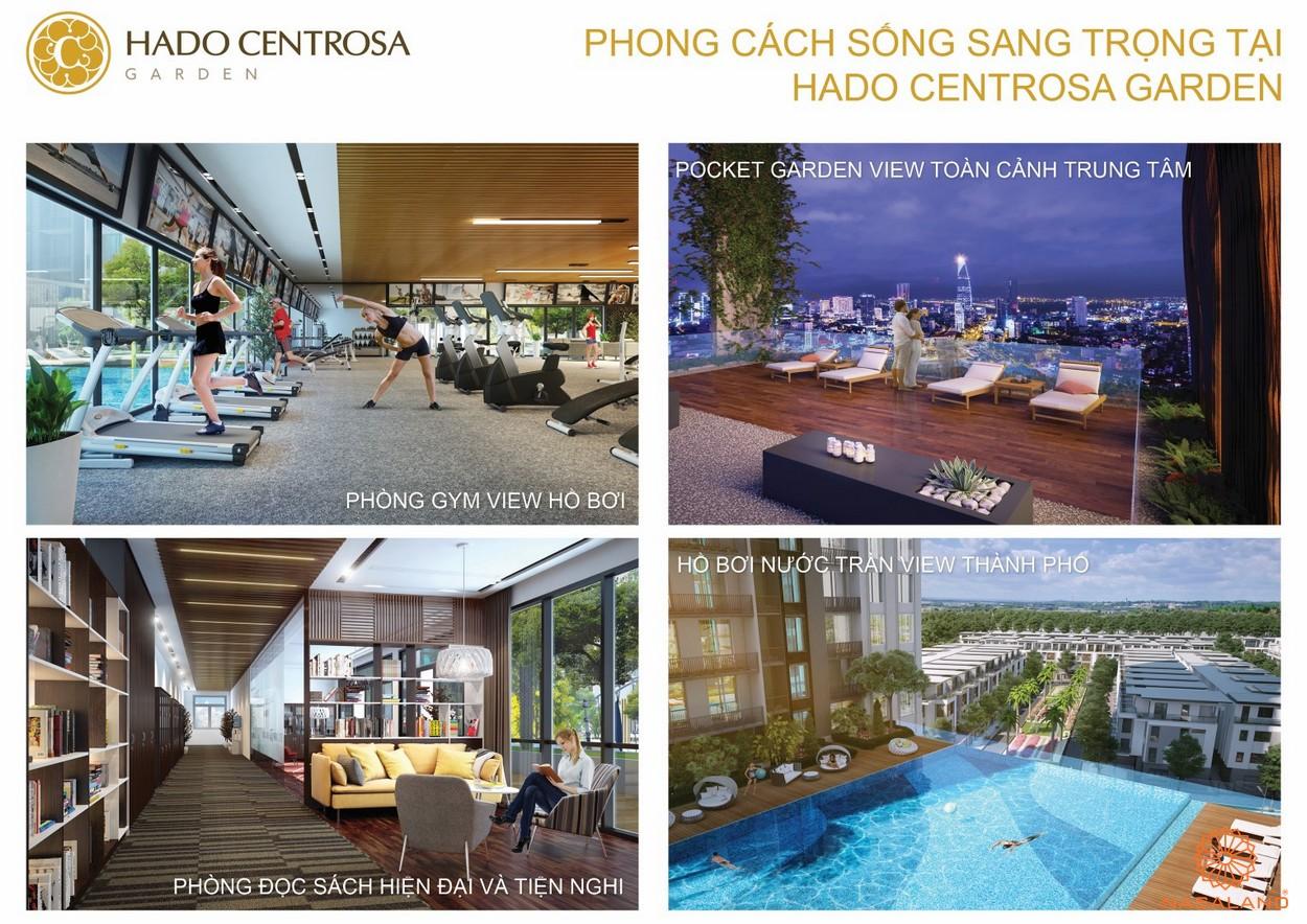 Tiện ích trong nội khu dự án căn hộ Hà Đô Centrosa Garden quận 10