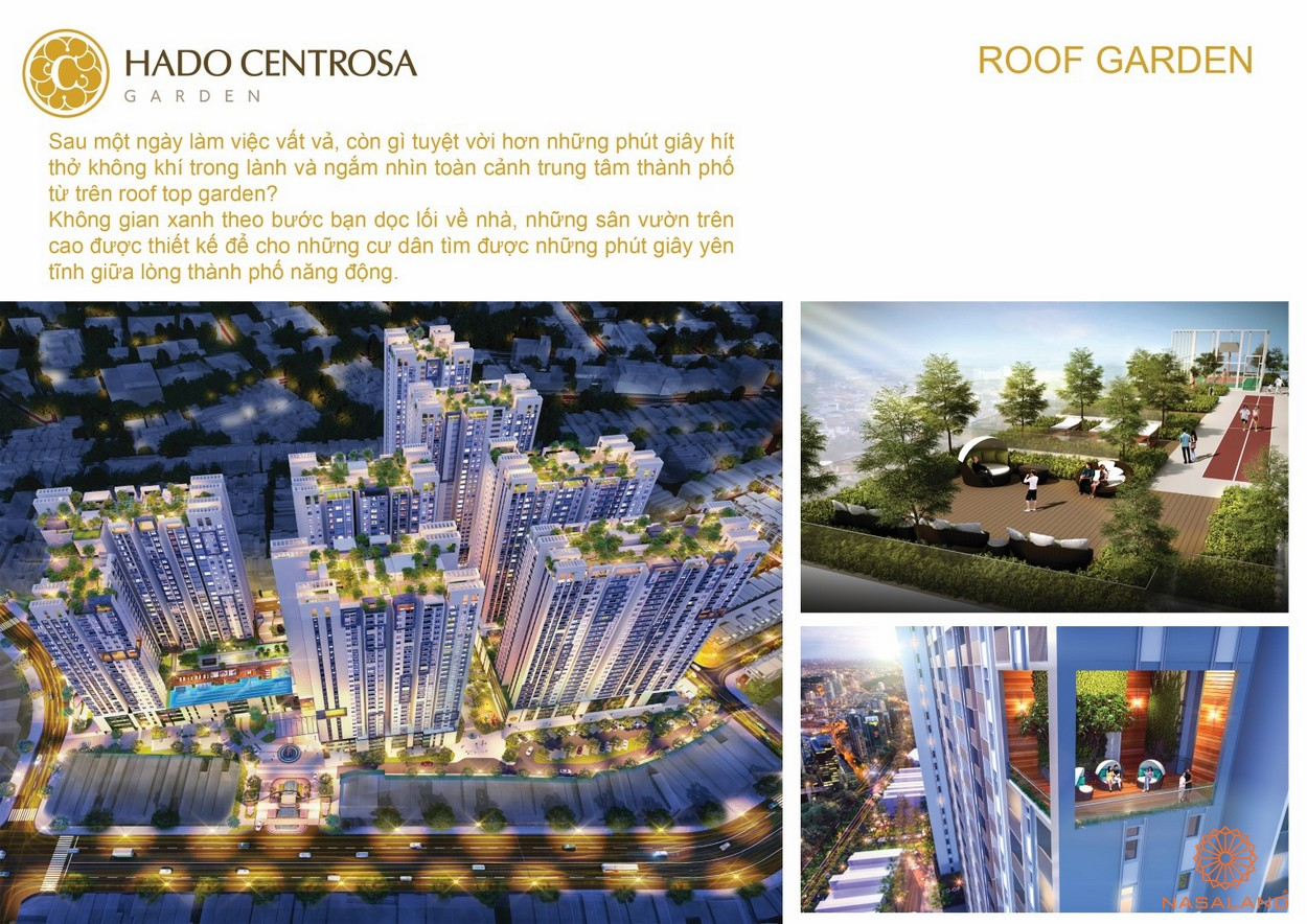 Tiện ích cafe sân thượng dự án căn hộ Hà Đô Centrosa Garden