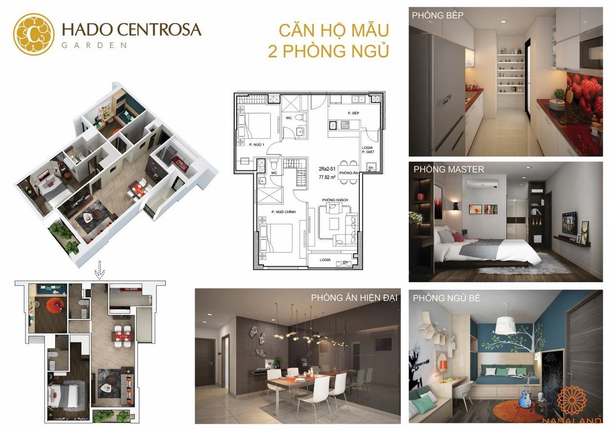 Thiết kế nhà mẫu 2PN dự án căn hộ Hà Đô Centrosa Garden